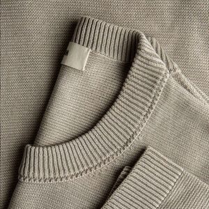 Cotton Linen Traveler Crew Sweater